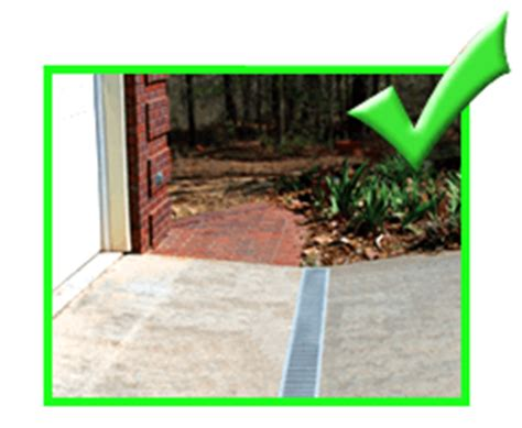 driveway flooding solutions driveway garage drain installation images frompo