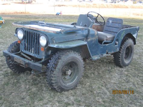 willys jeep off 1951 jeep willys 4x4 military off road army cj3a flat