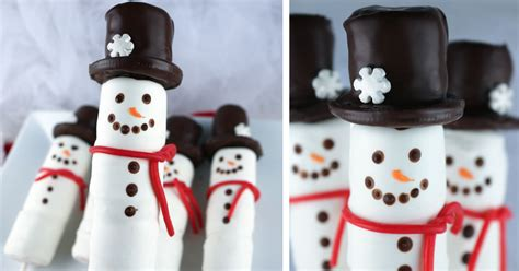 snowman marshmallow pops  sisters