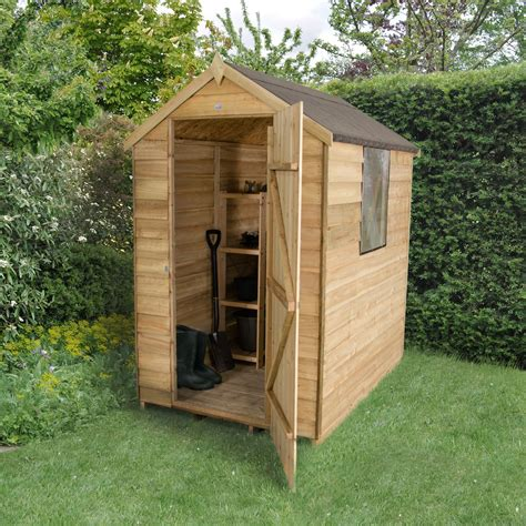 shed b and q 6x4 apex overlap wooden shed departments diy at b q