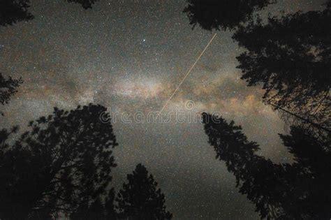 Real Shot Galaxy The Night Sky Stock Photo Image