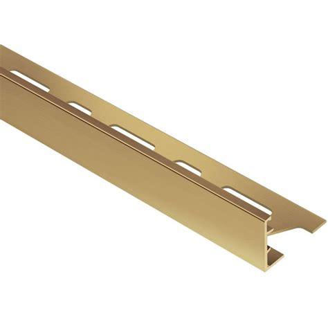 schluter schiene solid brass 3 4 in x 8 ft 2 1 2 in