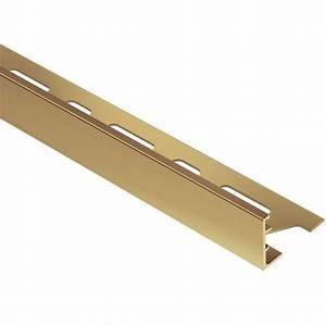 Schluter Schiene Solid Brass 1 in x 8 ft 2-1/2 in Metal