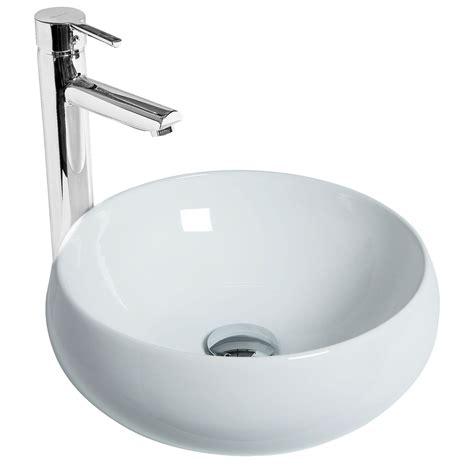 salle de bain ronde vasque poser ronde galet discac