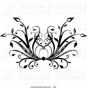 Free black and white floral clip art - BBCpersian7 collections