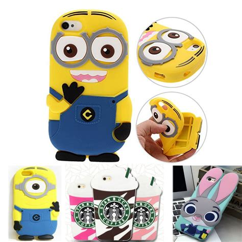 aliexpress buy 3d minions phone silicone soft cover for apple iphone for apple iphone