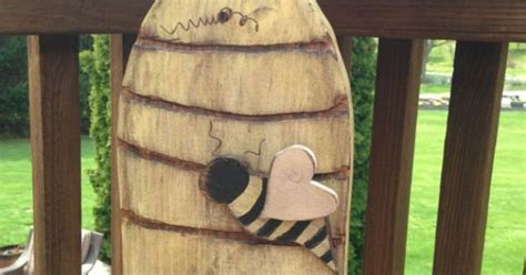 Primitive Beehive Wooden Beehive Handmade by