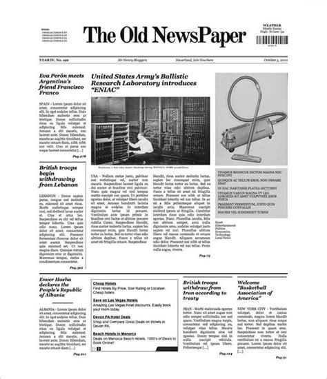 newspaper template  blank google docs word