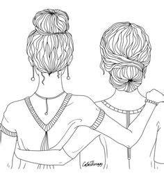 beste afbeeldingen van bff   tekenen meisjes