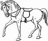 Horse Outline Walking Coloring Colouring Svg Clipart Clipartbest Clip Drawing Line sketch template