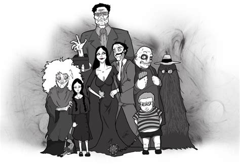 Addams Family Gomez Model Sheet Hb Cartoon