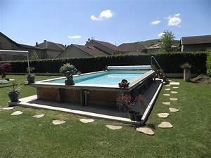 Piscine Semi Enterrée Coque : piscine hors sol bois pas cher piscine discount ~ Melissatoandfro.com Idées de Décoration