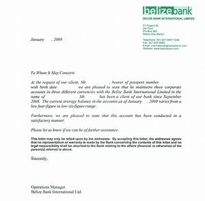 sample bank reference letters starting business With refrence letter template