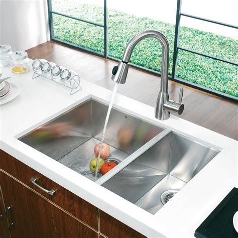 sink lowes kitchen vigo vg2920bl 29 in endicott stainless steel bowl 2271