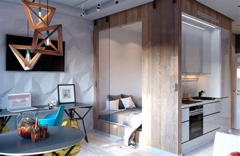 3 Modern Small Apartment Designs 50 Square Meters That Dont Sacrifice On Style Includes Floor Plans by Bold Decor In Small Spaces 3 Homes 50 Square