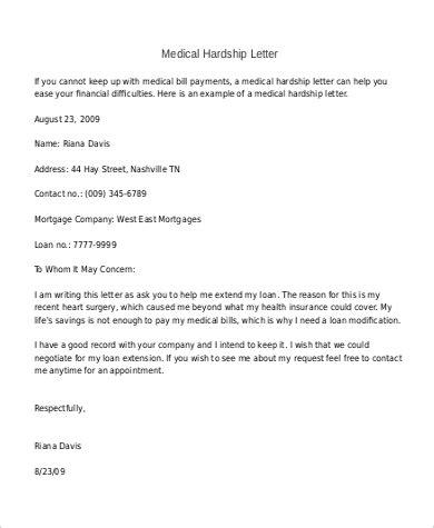 unique   write  hardship letter   format