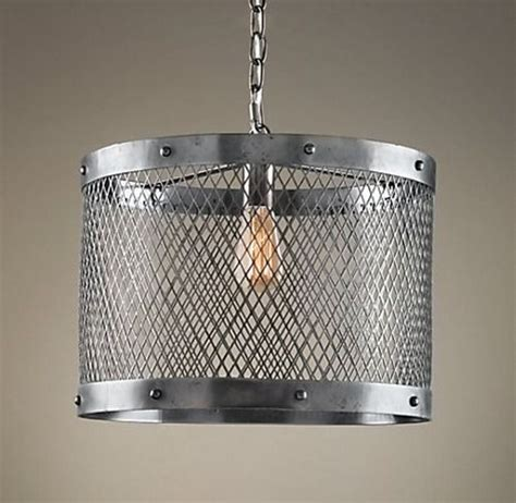 restoration hardware knock off lighting steel mesh pendant restoration hardware lights pinterest