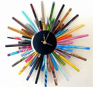 26 Extremely Creative Handmade Wall Clocks - Style Motivation