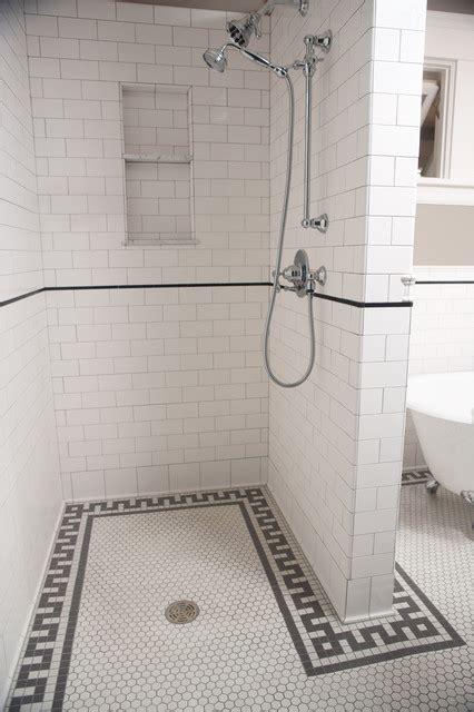 subway tile shower traditional bathroom minneapolis