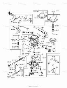 Kawasaki Motorcycle 1995 Oem Parts Diagram For Carburetor