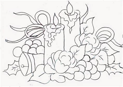 desenho de velas de natal com rosas uvas e velas para