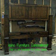 images  diy furniture  pinterest hidden gun storage diy headboards  guns