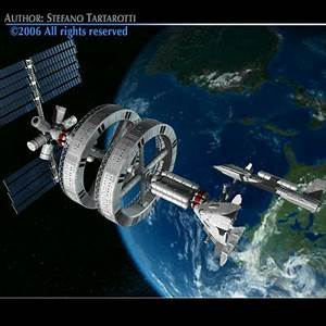 futuristic space station spaceships 3ds