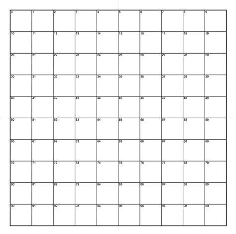 ne numbered grid mm squares