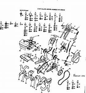 Craftsman 6 H P  Tiller Parts