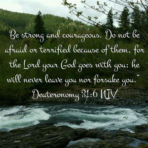 Deuteronomy 316 Niv Deuteronomy 31 Scripture Verses