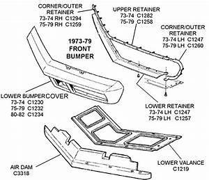 1973-79 Front Bumper - Diagram View