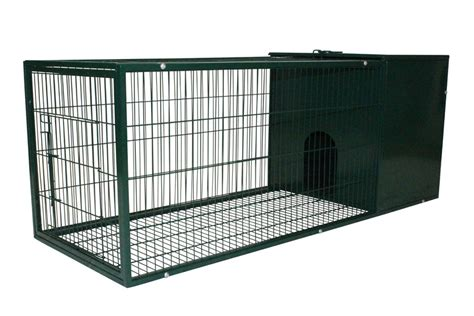 pet shop direct metal rabbit hutch  foot dark green