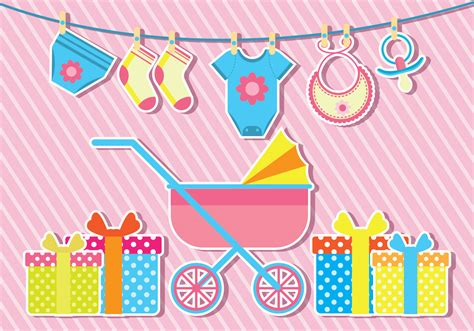 babyshower vector illustration   vectors