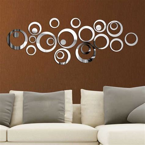 Buy diy circle acrylic mirror wall clock stickers home decor at cheap price online, with youtube reviews and faqs, we generally offer free product details. DIY Circle Acrylic Mirror Vinyl Art Mural Wall Sticker Room Decoration Sofa TV Background Home ...