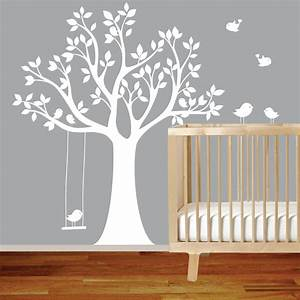 tree wall murals for nursery wwwimgkidcom the image With stunning white tree wall decal for nursery