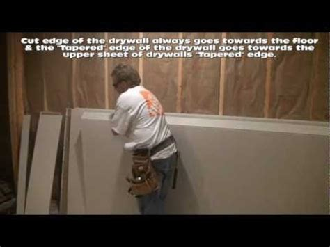 how to hang drywall on walls fixing up the house pinterest