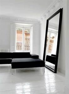 Miroir Cadre Noir : grand miroir mural pour une d co l gante ~ Teatrodelosmanantiales.com Idées de Décoration