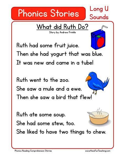 reading comprehension worksheet   ruth