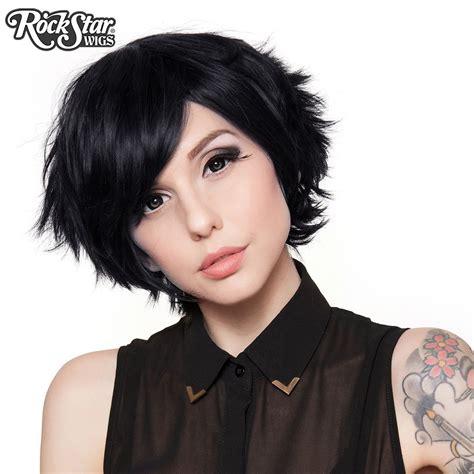 cosplay wigs usa boy cut short black  dolluxe