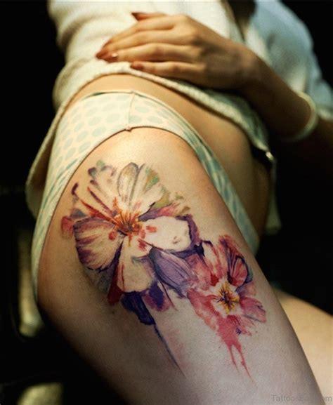 sweet thigh tattoos