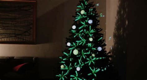 projection mapped christmas tree ornaments design milk