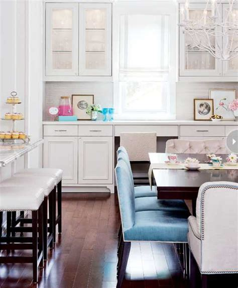 white kitchen decorating with colorful accents in