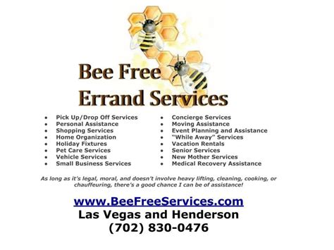 las vegas phone number bee free errand service couriers delivery services