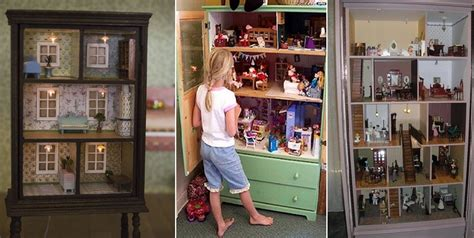 Turn An Old Dresser Into A Doll House  Home Design