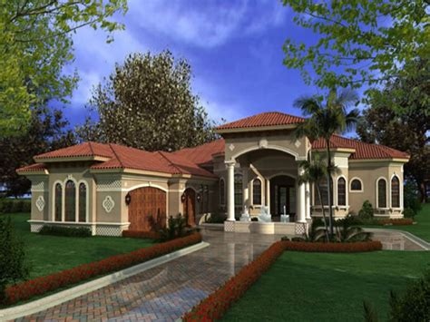 Luxury One Story Mediterranean House Plans One Story