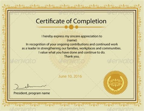 certification templates examples  word psd
