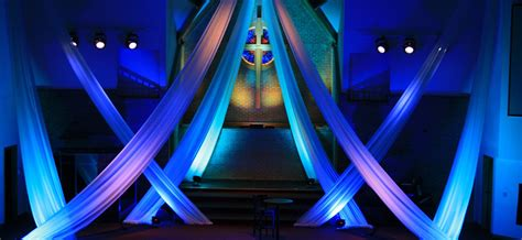 draping church stage design ideas