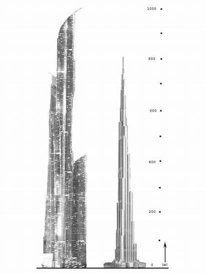 Burj Mubarak Khalifa Kabir Comparaison Dubai Future