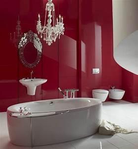 Kronleuchter Für Badezimmer : gestaltung mit farbe wann sollte man rot im badezimmer benutzen ~ Markanthonyermac.com Haus und Dekorationen