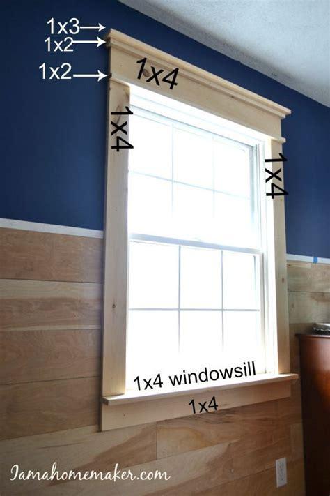 Super simple DIY farmhouse window trim   DIY   Pinterest